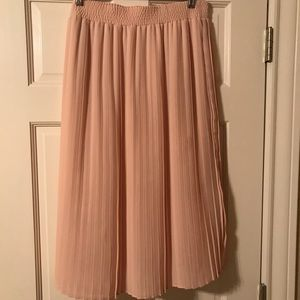 Flowy Blush Skirt